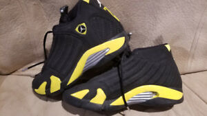 Jordan basketball shoes 14's -balck and yellow