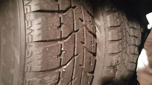 4 Bridgestone Blizzak 225 65 17 snow tires on 2012 Honda CRV rim