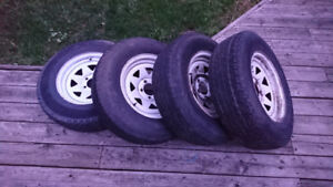 4 used Trailer tires 205/75r15