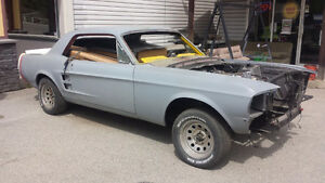 67 MUSTANG COUPE PROJECT, SHELBY PARTS, A CODE