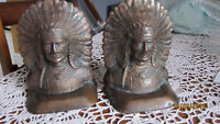 indian chief book ends maybe be bronze...