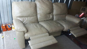 genuine leather couch free delivery