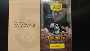 Samsung S5 16GB {New} Sealed Box w/Otterbox Defender + Sim