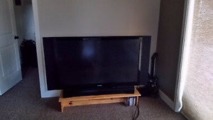 Toshiba TV with pine stand