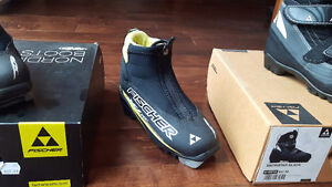 Kids Fisher XC Cross Country Ski Boots Size 29