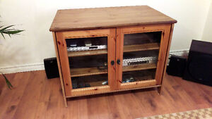 Solid Pine TV Entertainment cabinet (Ikea)