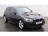 2014 BMW 1 Series 2014 14 BMW 1 Series 118D 2.0D M Sport 143 BHP Diesel black Ma