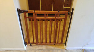 Wooden baby gates (perfect condition)