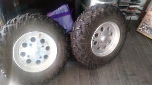 ATV tires on Rims