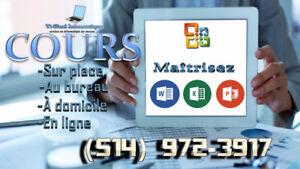 Cours de Word, Excel, PowerPoint PARTICULIERS & ENTREPRISES