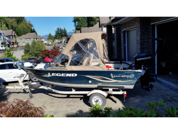 Used 2006 Legend Boats 2006 15ft aluminum boat 4 strokes, Mercury ELPH 40