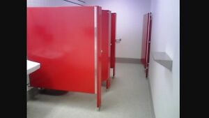 Washroom partitions - Red - Excellent Condition