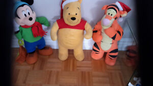 Peluche Mickey Mouse, Winnie the pooh, Tigrou