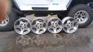 Stock Jeep 15 inch rims Prince George British Columbia image 1