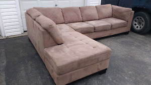 Microsuede Sectional FREE DELIVERY