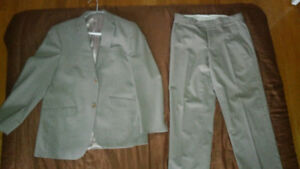 Beige pinstriped 2 piece Suit - good condition