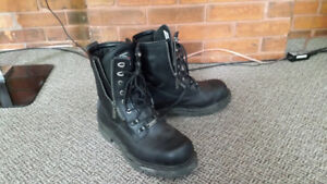 "New Milwaukee ""Trooper"" motorcycle boots. Size 11."