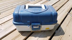 Plano Two Tray Fishing Tackle Box Used