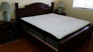 King size bed and mattress