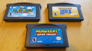 Nintendo GameBoy Advance Games ($15 each)