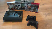 PS3 500GB 2 MANETTES/CONTROLLER, BLUETOOTH MIC, 6 JEUX/GAME