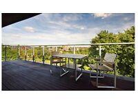 Single room in modern penthouse overlooking Haggerston Park