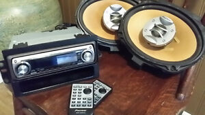 Pioneer Car Stereo with 2 Speakers and Remotes