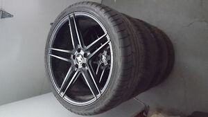 """Almost New 19"""" rims and tires 5 spoke!"""