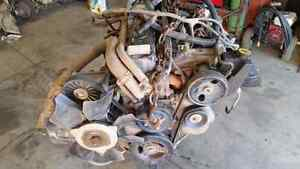Jeep motor and transmission
