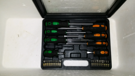 Set of screw drivers used