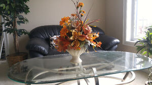 Artificial flower arrangement in a ceramic urn Kitchener / Waterloo Kitchener Area image 1