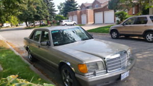 Mecerdez Benz 1990 420 SEL Leather Int