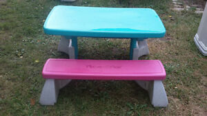 Fisher Price Picnic table with bench.