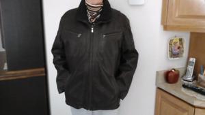 Manteau Hiver homme cuir d'agneau brun( neuf )