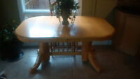 Honey Oak Table and 4 chairs