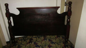 old time wooden headboard