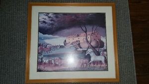 Noah Ark picture with frame