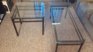 2 Glass Coffee/End Tables