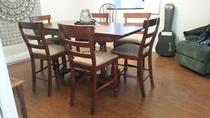 Pub Style Table w/6 Chairs