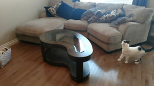 Bean shaped coffee table and 2 end tables