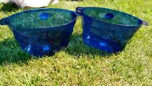 Two Large plastic bowls