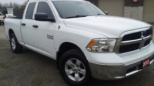 2013  Ram 1500 4X4,  3.6L V6, 8 spd auto.  Financing available.