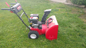 Next to new snow blower