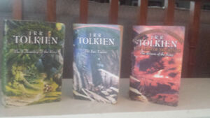 Lord of the Rings Trilogy paperbacks.