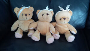 Cherished Teddies -  3 Teddy Bear Bean Bag Plush