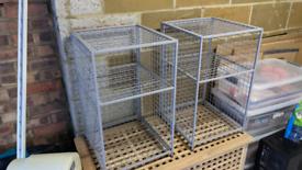 2x Grey Mesh Storage Cubes