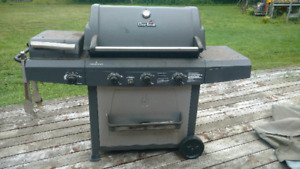 Large Charbroil BBQ with canvas cover and side burner & griddle