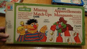 sesame street 1976 pour collectioneur missing match ups