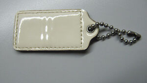 Coach large beige patent leather replacement hang tag/fob West Island Greater Montréal image 2
