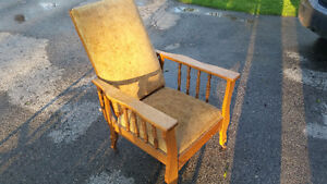 Antique reclining chair